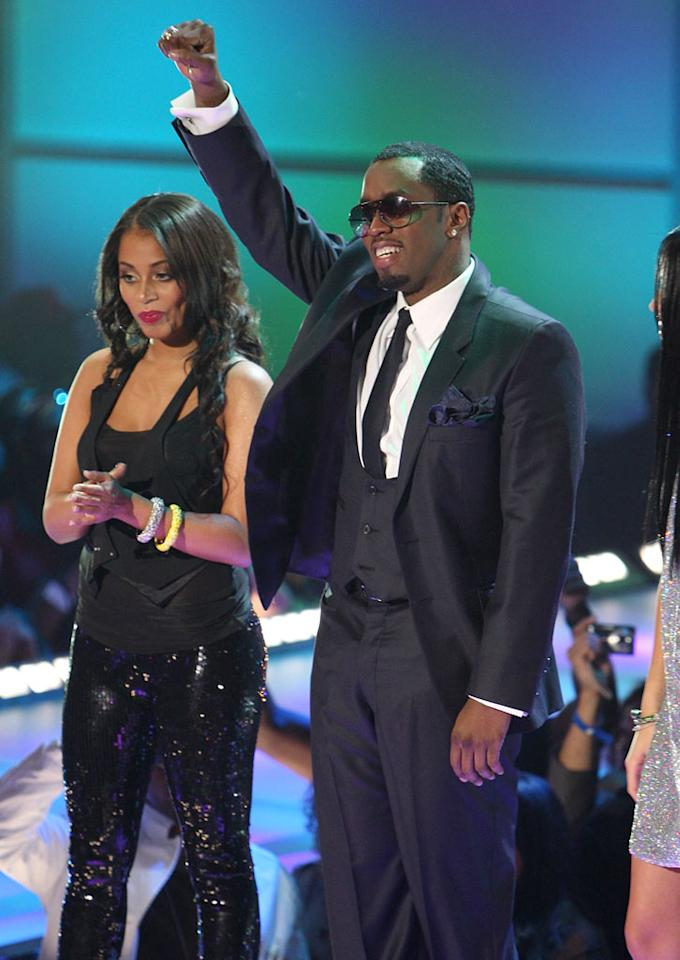 "Sean ""Diddy"" Combs greets the crowd at BET's ""Rip the Runway."" The show, which brings the world of fashion together with R&B and hip hop, will air on BET on March 4th. Theo Wargo/<a href=""http://www.wireimage.com"" target=""new"">WireImage.com</a> - February 21, 2008"