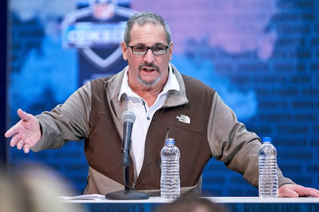 New York Giants general manager Dave Gettleman has been one of the most talked-about men in the NFL this offseason. (Getty Images)