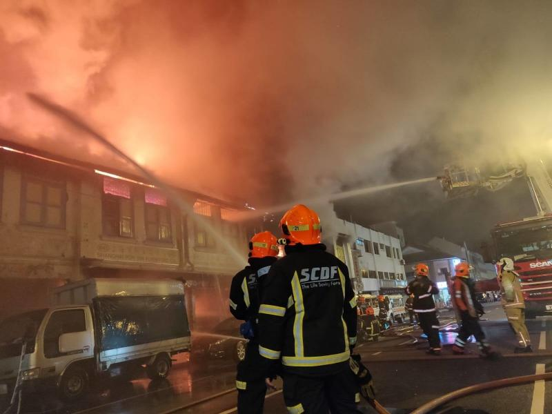 There were no reported injuries in the blaze.