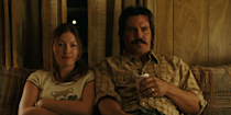 """<p>The Irish actress transformed herself into a Midwestern housewife whose brutish husband (played by Josh Brolin) finds himself in an untenable situation with a terrifying killer with a '70s shag haircut (Javier Bardem). The film took home the Oscar for """"Best Picture"""" in 2008, due in part to MacDonald's meek and lovely Carla Jean. """"She's the heart of the film, if it wasn't for her it would be a grim couple of hours to spend in the cinema,"""" said the actress. <br></p>"""
