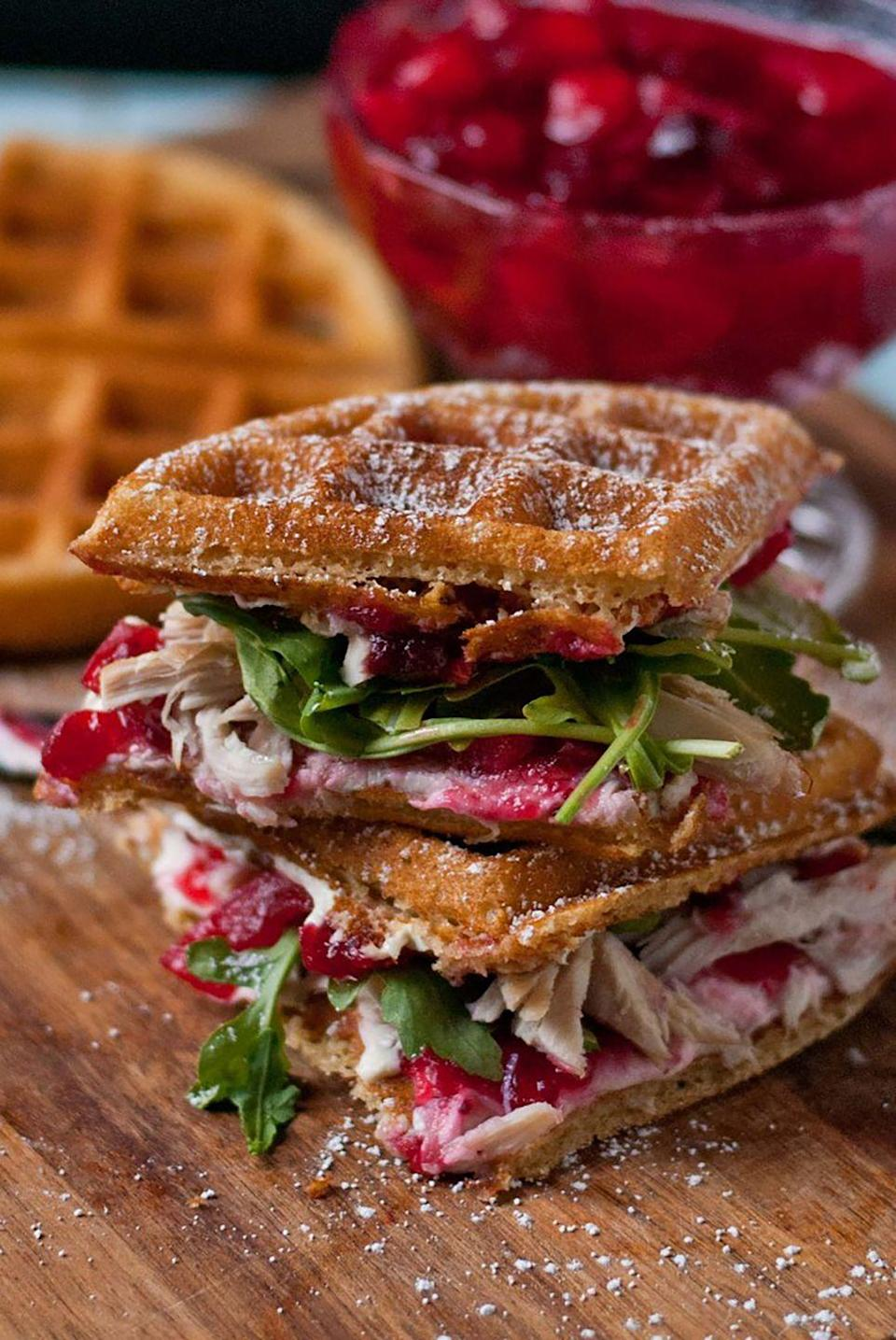 """<p>Stop everything: We found the perfect mix of sweet and savory, and it's these waffle sandwiches.</p><p><strong>Get the recipe at <a href=""""http://neighborfoodblog.com/2013/12/waffled-cranberry-cream-cheese-turkey-sandwiches-sundaysupper.html"""" rel=""""nofollow noopener"""" target=""""_blank"""" data-ylk=""""slk:NeighborFood"""" class=""""link rapid-noclick-resp"""">NeighborFood</a>. </strong> </p>"""