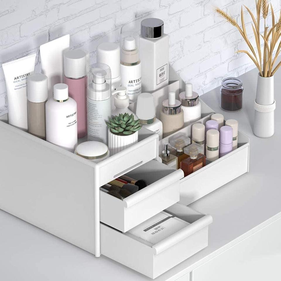<p>Beauty buffs will love this <span>Cosmetic Storage Box</span> ($20).</p>