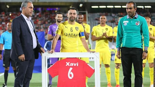 Xavi's playing days have come to a close after the Spain icon featured for the last time in Al Sadd's defeat to Persepolis in Iran.