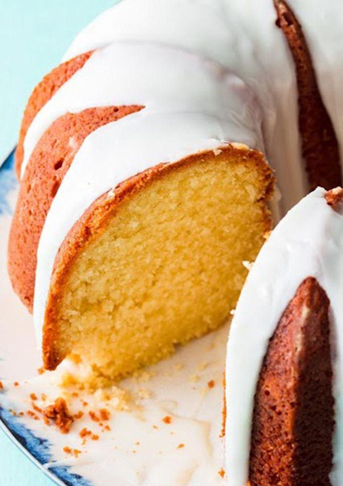 """<p>This simple vanilla bundt cake is perfect for any occasion, and your mother will probably ask for the recipe after she's devoured her slice. Dress it up with a berry compote or some chocolate details. </p><p><strong><em>Get the recipe at <a href=""""https://www.delish.com/cooking/recipe-ideas/a19637463/best-bundt-cake-recipe/"""" rel=""""nofollow noopener"""" target=""""_blank"""" data-ylk=""""slk:Delish"""" class=""""link rapid-noclick-resp"""">Delish</a>. </em></strong></p>"""