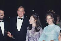 "<p>John Wayne and his family celebrated his Best Actor win for playing Rooster Cogburn in <em><a href=""https://www.amazon.com/True-Grit-John-Wayne/dp/B00AALKNBA/ref=sr_1_3?s=instant-video&ie=UTF8&qid=1547579456&sr=1-3&keywords=True+Grit&tag=syn-yahoo-20&ascsubtag=%5Bartid%7C10055.g.5132%5Bsrc%7Cyahoo-us"" rel=""nofollow noopener"" target=""_blank"" data-ylk=""slk:True Grit"" class=""link rapid-noclick-resp"">True Grit</a>.</em> <em><a href=""https://www.amazon.com/dp/B004PKFBBO?ref=sr_1_1_acs_kn_imdb_pa_dp&qid=1547579502&sr=1-1-acs&autoplay=0&tag=syn-yahoo-20&ascsubtag=%5Bartid%7C10055.g.5132%5Bsrc%7Cyahoo-us"" rel=""nofollow noopener"" target=""_blank"" data-ylk=""slk:Midnight Cowboy"" class=""link rapid-noclick-resp"">Midnight Cowboy</a></em> was also one of the big winners of the night. </p>"