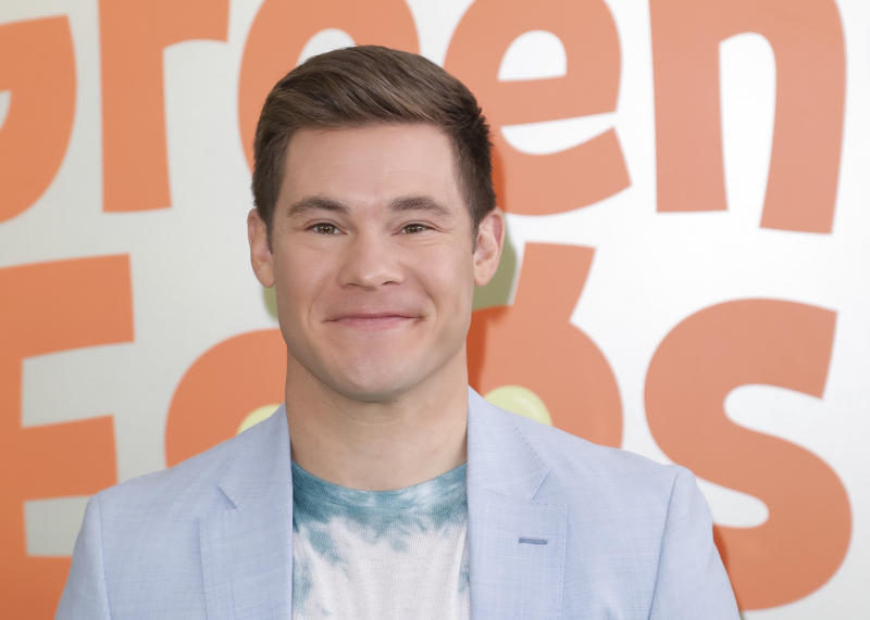 "LOS ANGELES, CALIFORNIA - NOVEMBER 03: Adam DeVine attends the premiere of Netflix's ""Green Eggs And Ham"" at Hollywood American Legion on November 03, 2019 in Los Angeles, California. (Photo by Tibrina Hobson/Getty Images)"