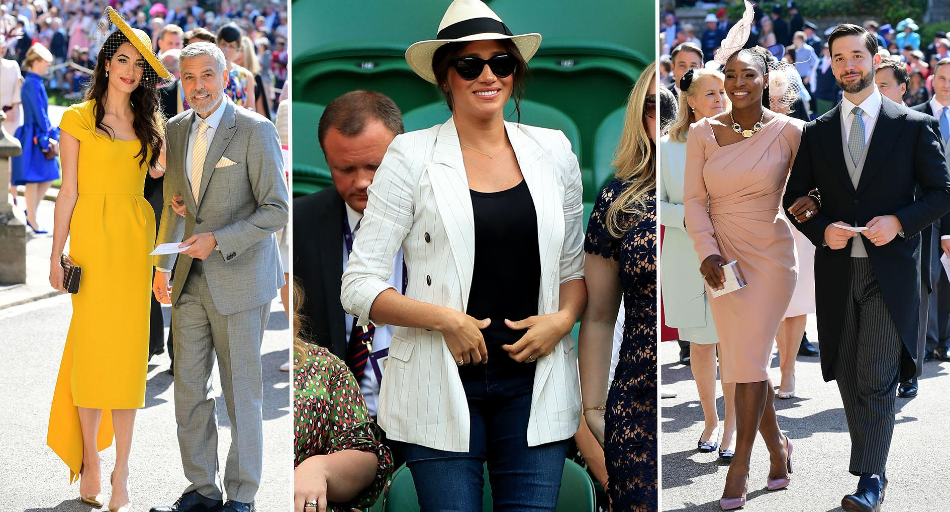 Meghan is friends with the Clooneys and Serena Williams. [Photos: Getty/PA]