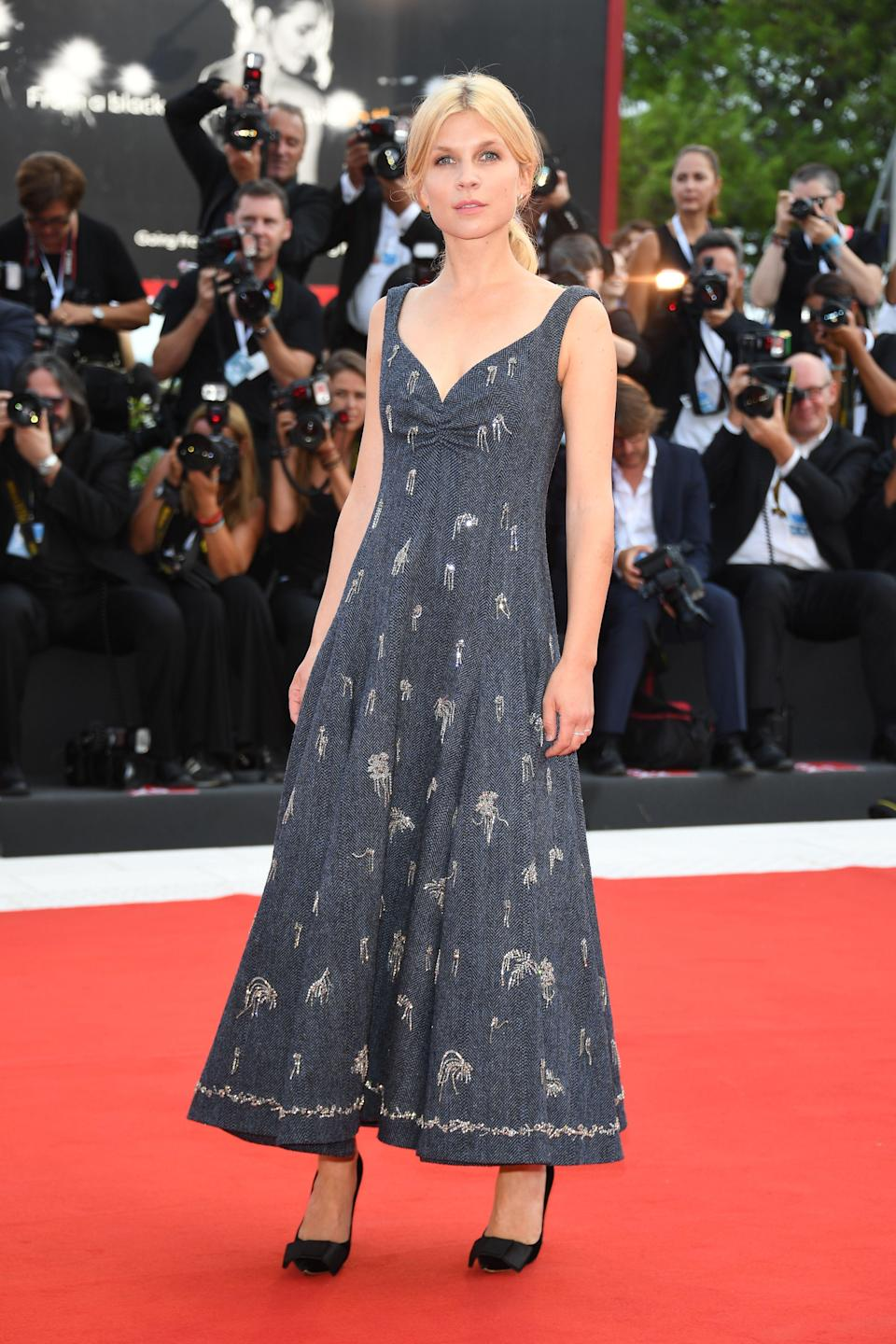 <p>The film festival jury member walks the red carpet ahead of the opening ceremony.</p>