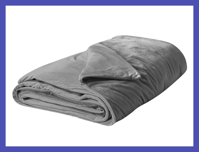 Tranquility now: There's no sleep like a weighted-blanket sleep. (Photo: Walmart)