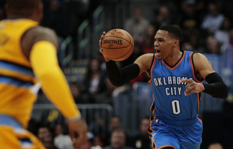 Russell Westbrook is as intense as ever. (Associated Press)