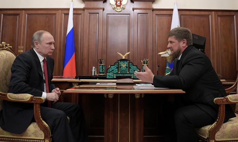 Vladimir Putin meets Chechnya's Ramzan Kadyrov at the Kremlin in Moscow.