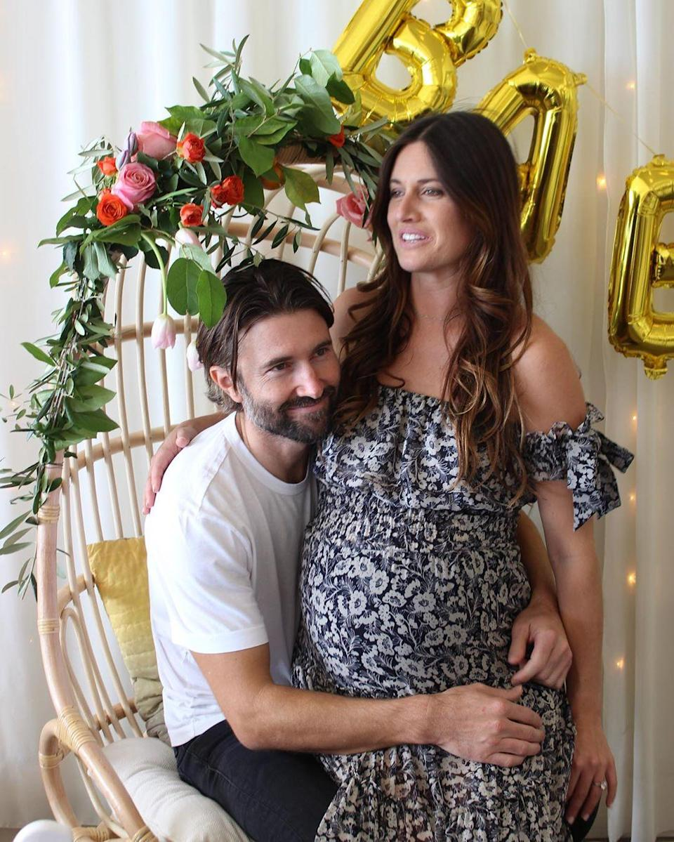 """Brandon Jenner revealed that he and Cayley Stoker had tied the knot in a courthouse ceremony after calling her his """"wife"""" in a January 26 <a href=""""https://www.instagram.com/p/B7yaD6fDLcH/"""" rel=""""nofollow noopener"""" target=""""_blank"""" data-ylk=""""slk:Instagram post"""" class=""""link rapid-noclick-resp"""">Instagram post</a>. """"We wed at the Santa Barbara courthouse on January 21 with my daughter Eva and Cayley's grandmother, Joan, as our witness,"""" he told <a href=""""https://people.com/tv/brandon-jenner-cayley-stoker-married/"""" rel=""""nofollow noopener"""" target=""""_blank"""" data-ylk=""""slk:People"""" class=""""link rapid-noclick-resp""""><em>People</em></a>. Stoker gave birth to the couple's twin sons in February."""
