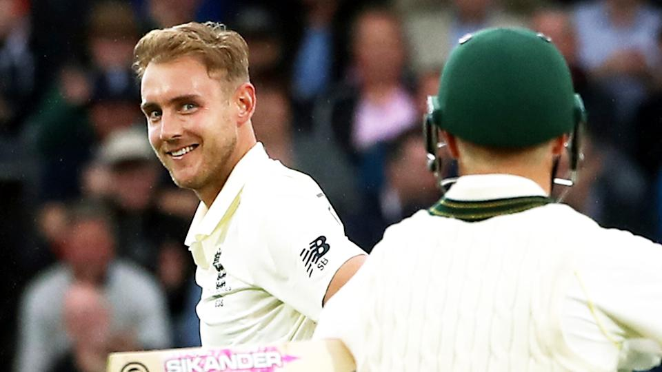 Stuart Broad (pictured left) looking at David Warner (pictured right) during the Ashes.