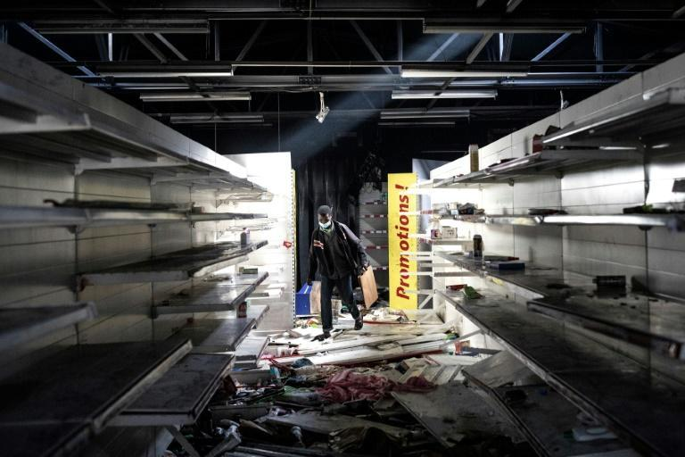 The Auchan supermarket was among the shops targeted by looters in Dakar