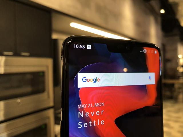 The notch on the OnePlus 6 is … not a big deal at all.