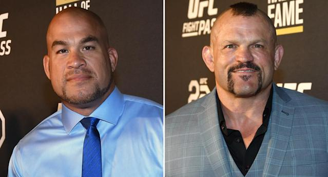 Tito Ortiz, 43, and Chuck Liddell, 49, will fight for a third time Thanksgiving weekend. (Getty)