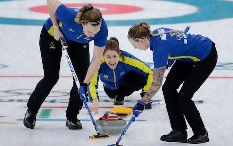 Anna Hasselborg wins the match for Sweden - Credit: AP Photo/Natacha Pisarenko