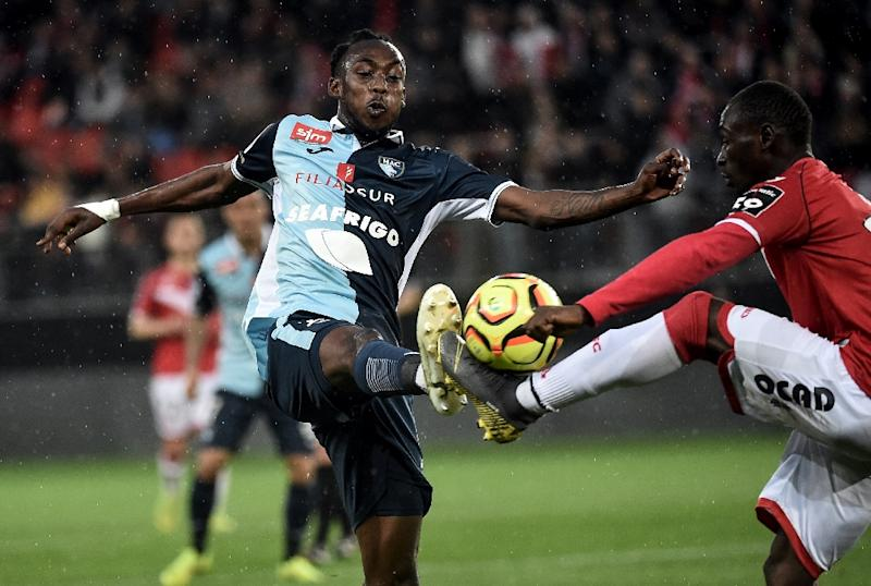Tino Kadewere (L) just completed his first season in France with second division side Le Havre
