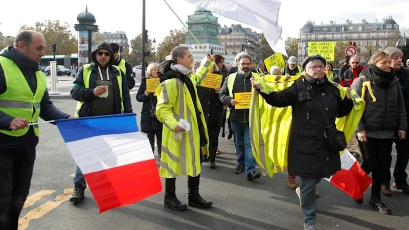Yellow Vests stage rallies, shut down famed Paris store on protest anniversary