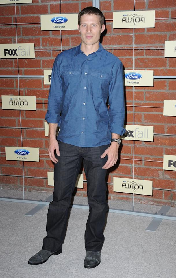 "Zach Gilford (""The Mob Doctor"") attends Fox's Fall 2012 Eco-Casino party at The Bookbindery on September 10, 2012 in Culver City, California."