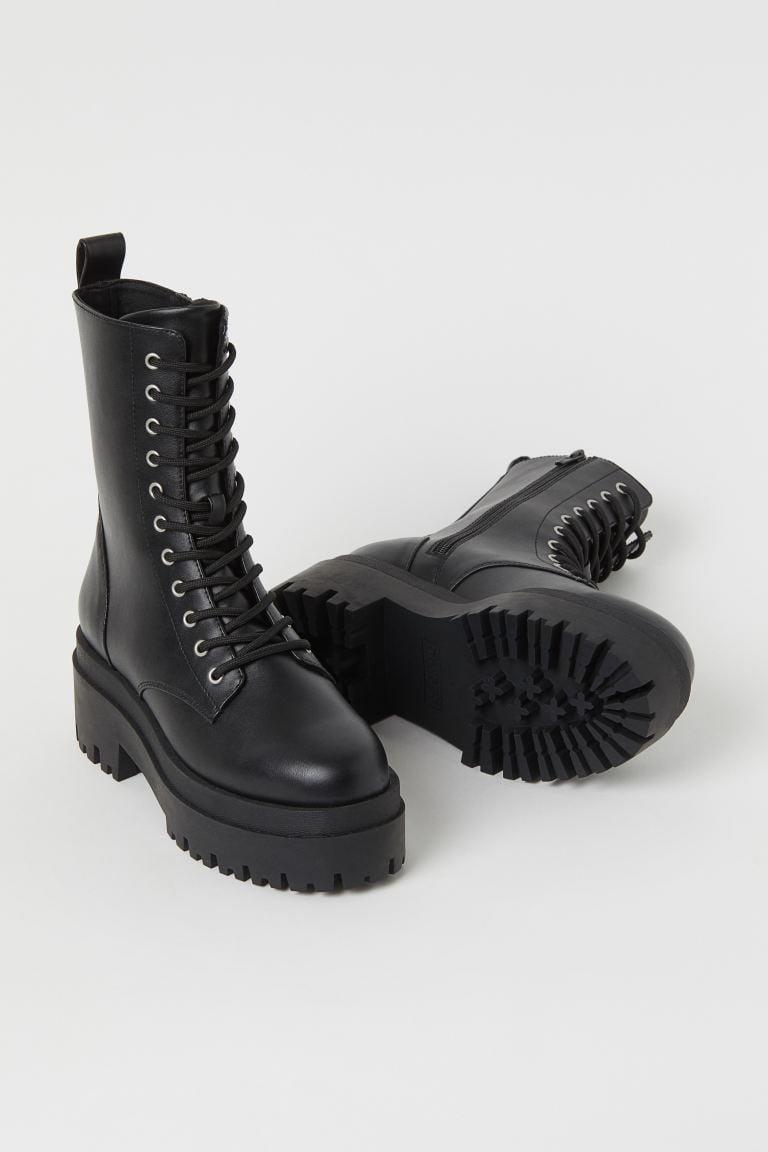 <p>You'll step out in style with these <span>Chunky Platform Boots</span> ($40).</p>