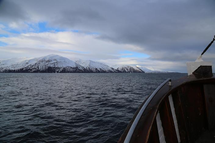 Image: Captain Heimir Hardarson takes whale watchers out on his boat in Husavik, Iceland. (Carlo Angerer / NBC News)
