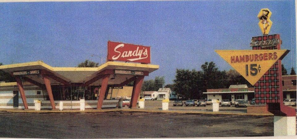<p>As franchise owners for the ever-popular McDonald's, a group of four friends decided to go out on their own and founded Sandy's, a Scottish-themed fast food restaurant. While their family-owned vibe made them largely successfully, they inevitably became strapped for cash and merged with the Hardee's chain. In 1979, the last Sandy's changed its name to Hardee's. The end.</p>