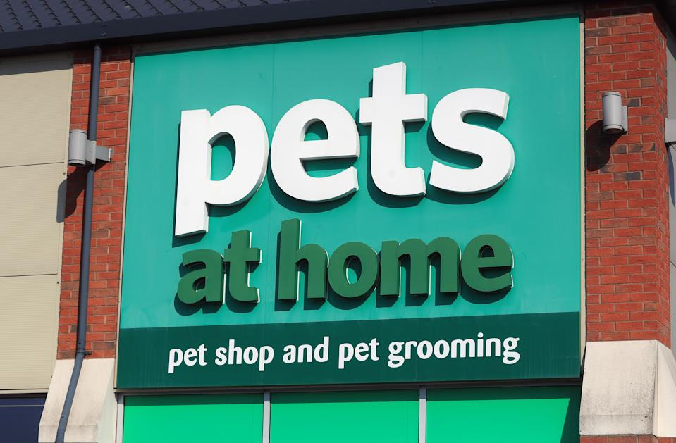 File photo dated 27/3/2020 of a Pets at Home store. Pets at Home is set to reveal a surge in sales over the past six months after the pandemic helped to drive a boom in pet ownership.