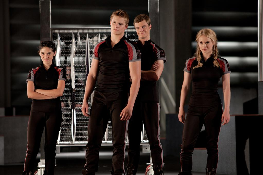 "Isabelle Fuhram, Alexander Ludwig, Jack Quaid and Levin Rambin in Lionsgate's ""<a href=""http://movies.yahoo.com/movie/the-hunger-games/"">The Hunger Games</a>"" - 2012"