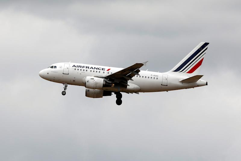 An Air France Airbus A318 aircraft lands at the Charles de Gaulle International Airport in Roissy, near Paris, July 28, 2017. REUTERS/Benoit Tessier