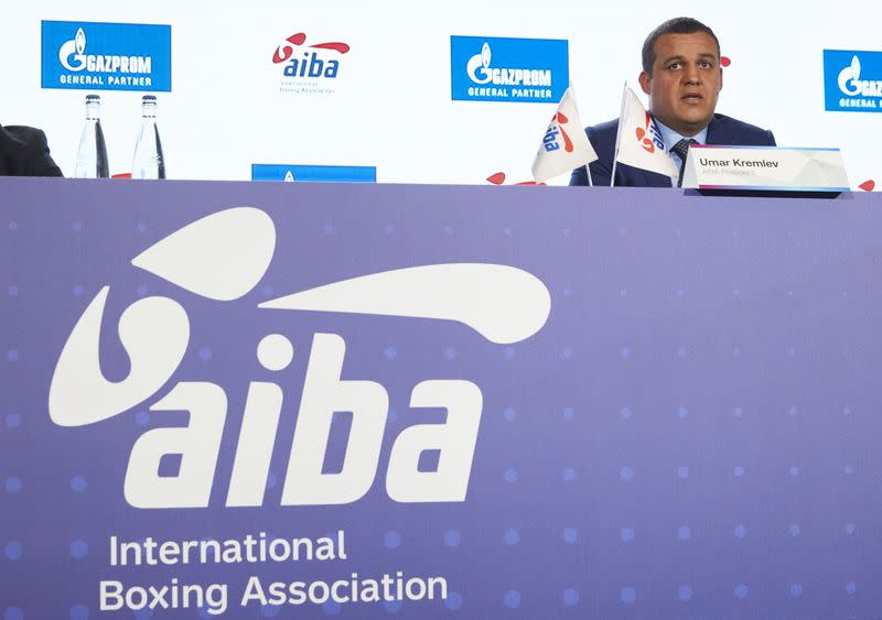 AIBA President Kremlev attends a news conference ahead of the Tokyo 2020 Olympic Games in Lausanne