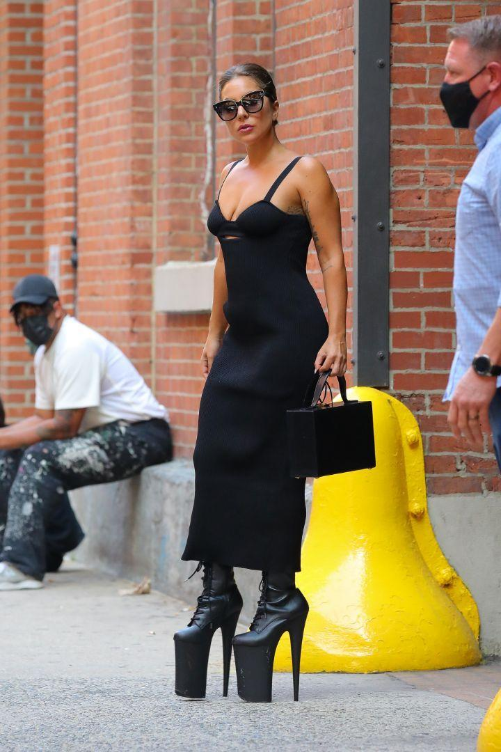 Lady Gaga seen leaving the Highline Studios after a photoshoot in New York, July 26. - Credit: MEGA