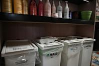 The waste produced by the hairdressing industry in the UK each year could fill 50 football stadiums, the collective says