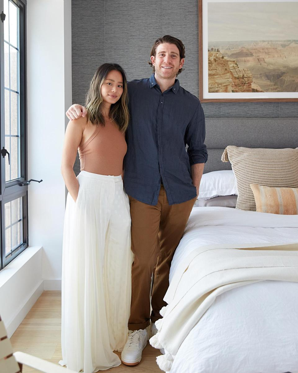 """<p>The <i>Lovecraft Country</i> actress, 37, and the<i> One Tree Hill</i> alum, 42, who <a href=""""https://people.com/celebrity/jamie-chung-marries-bryan-greenberg-on-halloween/"""" rel=""""nofollow noopener"""" target=""""_blank"""" data-ylk=""""slk:tied the knot in 2015"""" class=""""link rapid-noclick-resp"""">tied the knot in 2015</a>, recently purchased a condo in the Fort Greene neighborhood of Brooklyn, and PEOPLE got a peek inside after they completed their renovations. </p> <p>""""We really used quarantine to put the space together ourselves,"""" Chung told PEOPLE of renovating during the coronavirus pandemic, noting that """"it was a lot of furniture building for my husband and me, but we were blessed with having a roof over our heads and being able to spend that time together.""""</p> <p>""""This is our forever home,"""" she added of the condo. """"We're not getting rid of it.""""</p> <p><a href=""""https://people.com/home/see-jamie-chung-and-bryan-greenbergs-brooklyn-condo-makeover-its-our-forever-home/"""" rel=""""nofollow noopener"""" target=""""_blank"""" data-ylk=""""slk:See more photos of Jamie Chung and Bryan Greenburg's home."""" class=""""link rapid-noclick-resp"""">See more photos of Jamie Chung and Bryan Greenburg's home.</a> </p>"""