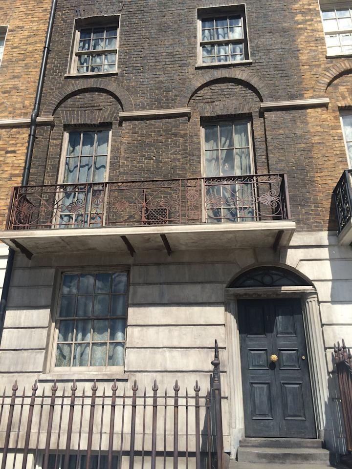 <p>When you're in muggle London, you can climb the stairs of 12 Grimmauld Place, but make sure you keep an eye on the upstairs windows - Kreacher can be caught peeking out periodically. </p>