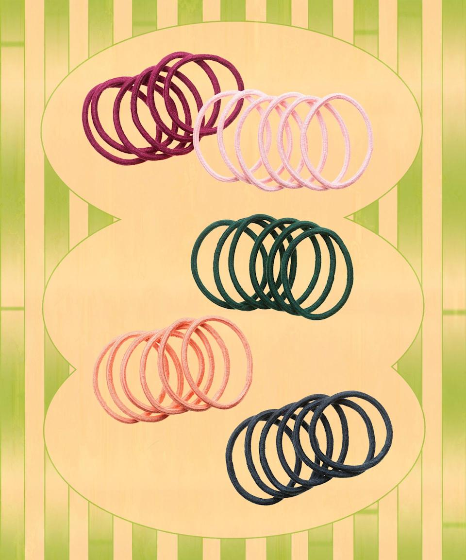 No one wants their hair elastics to contribute to potential breakage, so grab these no-metal, pull-preventing hair ties — made from bamboo fabric — next time you're sporting those pigtails braids.