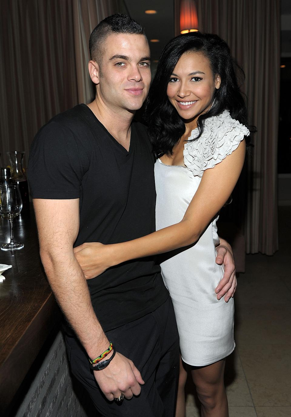 Mark Salling and Naya Rivera attend the celebration of Glee's Golden Globe nominations with InStyle and 20th Century Fox held at Sunset Tower on January 9, 2010 in West Hollywood, California.