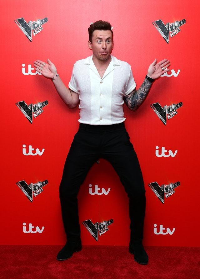 McFly's Danny Jones at The Voice Kids Launch