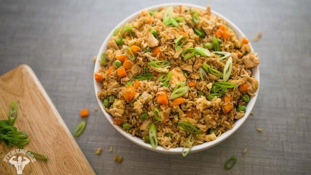 PHOTO: Kevin Curry's 5-ingredient Rotisserie Chicken Fried Rice dish. (Kevin Marple)