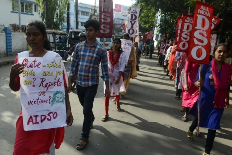 Youths and students in eastern India protest in December against incidents of rape carried out across the country (AFP Photo/DIPTENDU DUTTA)