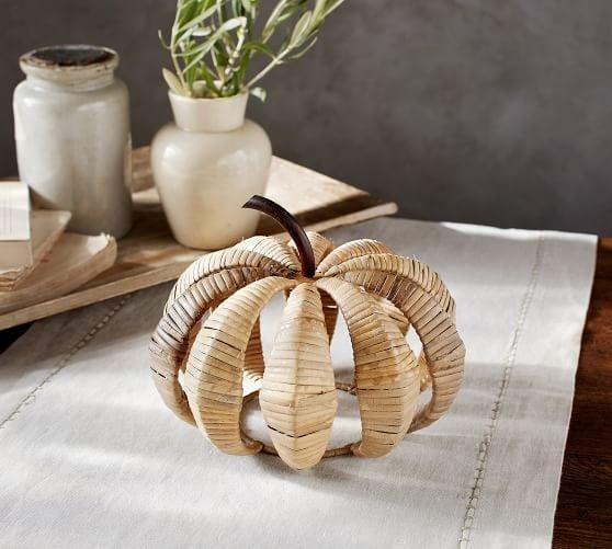 <p>Keep the summer rattan trend going with this decorative <span>Woven Pumpkin</span> ($15, originally $40).</p>