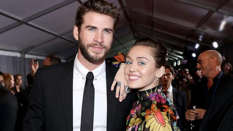 Miley Cyrus and Liam Hemsworth Have Date Night at Elton John's Final Vegas Concert
