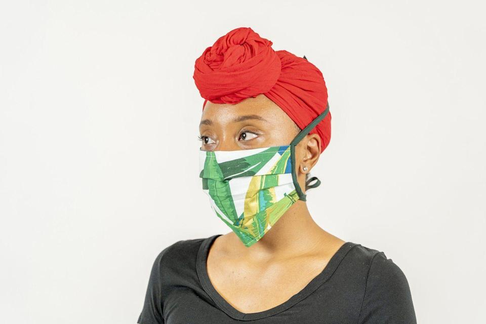 """<p><strong>House of Perna</strong></p><p>thehouseofperna.com</p><p><strong>$15.00</strong></p><p><a href=""""https://thehouseofperna.com/products/face-mask?variant=32740504338495"""" rel=""""nofollow noopener"""" target=""""_blank"""" data-ylk=""""slk:Shop Now"""" class=""""link rapid-noclick-resp"""">Shop Now</a></p><p>We love how Amanda Perna, the brains behind this brand and the DIY maven who helped create <a href=""""https://www.goodhousekeeping.com/health/a31902442/how-to-make-medical-face-masks/"""" rel=""""nofollow noopener"""" target=""""_blank"""" data-ylk=""""slk:our own mask sewing guides"""" class=""""link rapid-noclick-resp"""">our own mask sewing guides</a>, turned an appreciation for vibrant, iconic colors and prints into these head-turning masks. From mixed cheetah prints to florals and shibori, your bound to find a unique face mask (equipped with ties, not straps, for comfort!) for your ensemble here.</p>"""