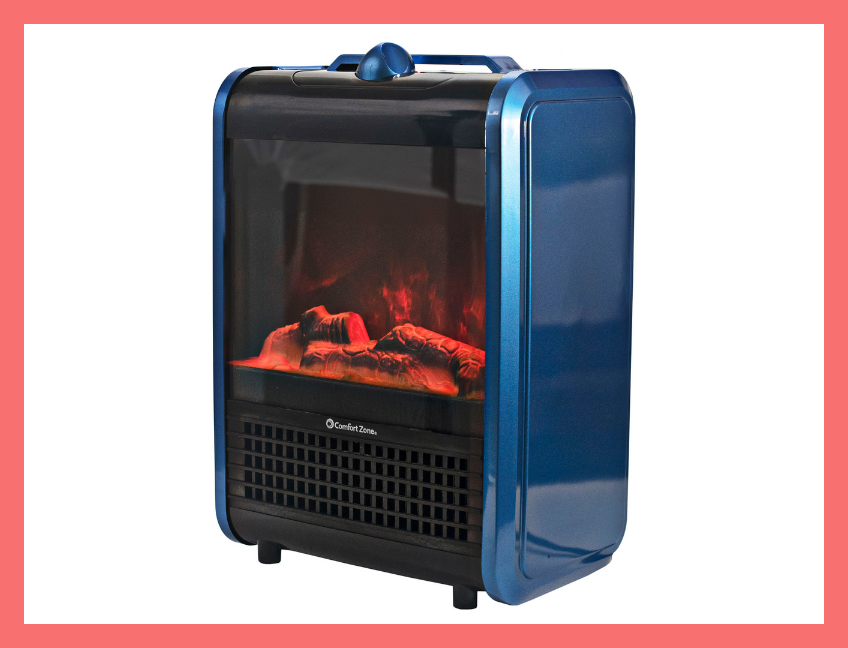 Comfort Zone Mini Electric Fireplace Spa. (Photo: Walmart)