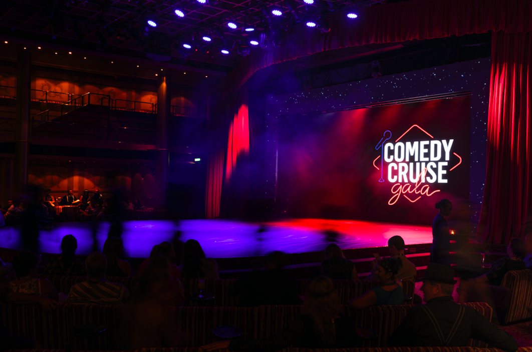 <p>It goes without saying that watching some comedy is a must if you book yourself in for a comedy cruise. The likes of Dave Hughes, Matt Okine, Denise Drysdale, Claire Hooper and Dave Thornton are regular performers.<br />Photo: Supplied </p>