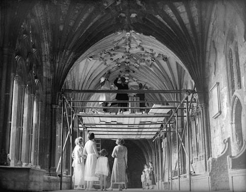 A spring clean at Canterbury Cathedral - Credit: Reg Speller