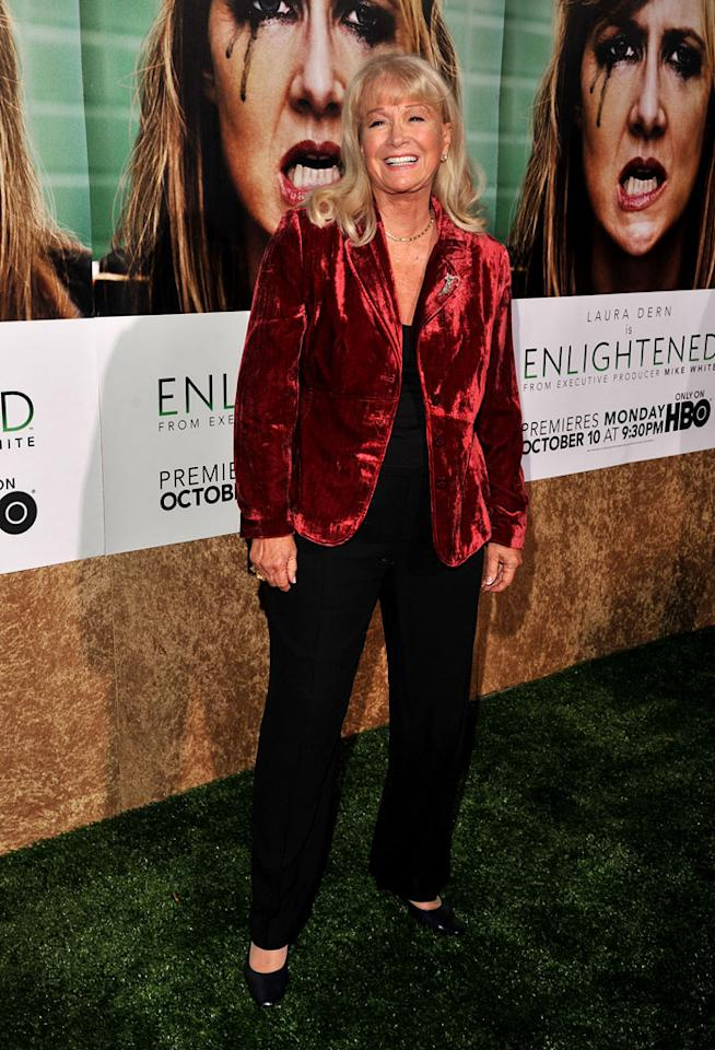 "<a href=""/diane-ladd/contributor/28546"">Diane Ladd</a> arrives at the premiere of HBO's ""<a href=""/enlightened/show/46295"">Enlightened</a>"" at Paramount Theater on October 6, 2011 in Hollywood, California."