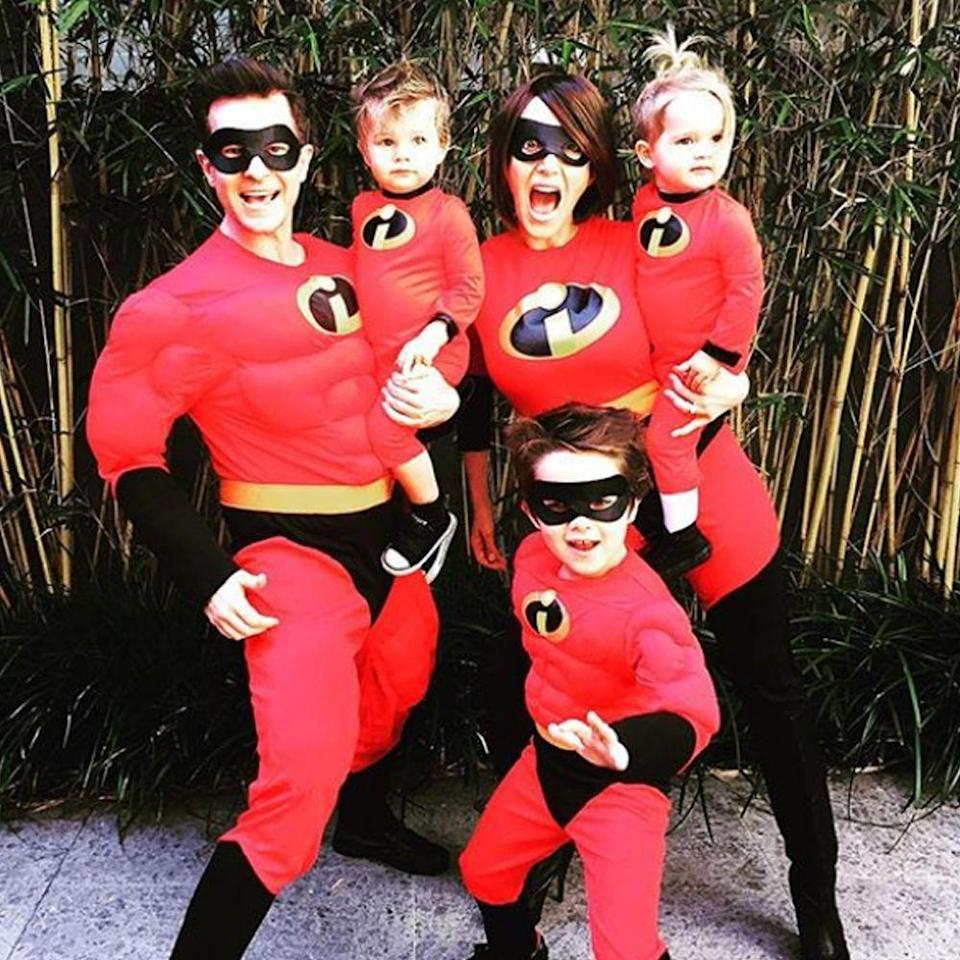 """<p>Going as Disney's superhero family has never been easier. These <em>Incredibles </em>outfits for the whole family are sold at most Halloween costume shops — and they even have one for <a href=""""https://go.redirectingat.com?id=74968X1596630&url=https%3A%2F%2Fwww.spirithalloween.com%2Fproduct%2Fbaby-jack-jack-costume-deluxe-the-incredibles%2F103564.uts&sref=https%3A%2F%2Fwww.bestproducts.com%2Flifestyle%2Fg22530616%2Ffamily-halloween-costume-ideas%2F"""" rel=""""nofollow noopener"""" target=""""_blank"""" data-ylk=""""slk:baby Jack-Jack"""" class=""""link rapid-noclick-resp"""">baby Jack-Jack</a>!<br></p><p><a class=""""link rapid-noclick-resp"""" href=""""https://www.amazon.com/s?k=The+Incredibles+costume&ref=nb_sb_noss&tag=syn-yahoo-20&ascsubtag=%5Bartid%7C2089.g.22530616%5Bsrc%7Cyahoo-us"""" rel=""""nofollow noopener"""" target=""""_blank"""" data-ylk=""""slk:SHOP THE LOOKS"""">SHOP THE LOOKS</a></p><p><strong>Instagram: </strong><a href=""""https://www.instagram.com/p/Bk1-Rd3nD3D/?hl=en&taken-by=davidcampbell73"""" rel=""""nofollow noopener"""" target=""""_blank"""" data-ylk=""""slk:@davidcampbell73"""" class=""""link rapid-noclick-resp"""">@davidcampbell73</a><br></p>"""