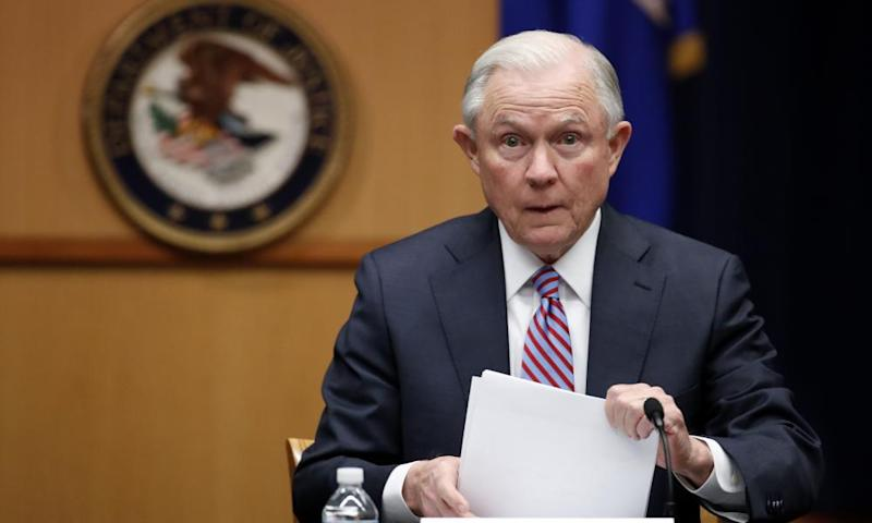 Jeff Sessions complained that Donald Trump's revised travel ban had been halted by 'a judge sitting on an island in the Pacific'.