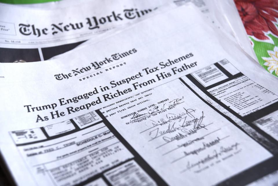 A special report in the October 7, 2018 edition of The New York Times investigates suspect tax schemes used by Donald Trump